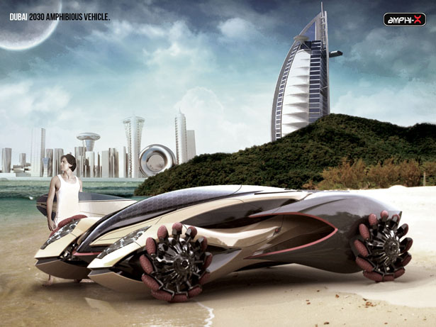 Amphi-X : Amphibious Vehicle for Dubai 2030 by Beichen Nan
