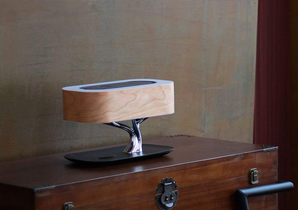 Ampulla Masdio Tree Table Lamp with Wireless Charger and Bluetooth Speaker