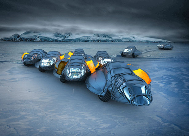 Antarctic Research Unit Concept Vehicle Was Inspired by Huddling Behavior in Emperor Penguins