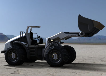 antares wheeled loading shovel vehicle