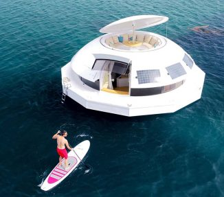 Anthénea Floating Eco Pod to Explore The Sea in Luxurious Style
