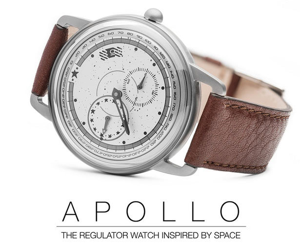 Apollo Watch - Regulator Watch Inspired by Space