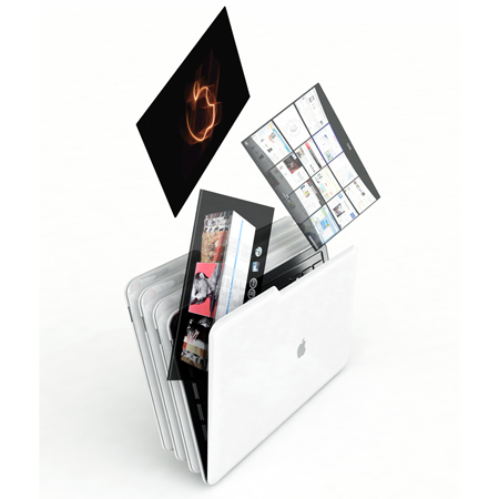 apple mac folder laptop concept