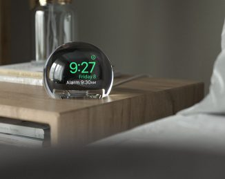 NightWatch – A Spherical Shape Magnifying Dock for Apple Watch