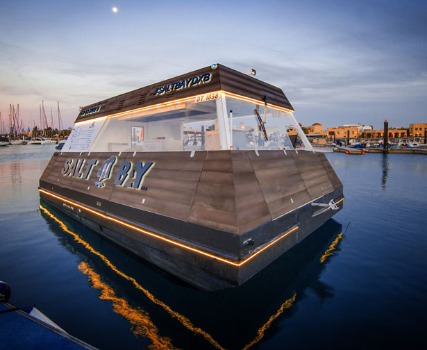 Aqua Pod Floating Drive-Thru Kiosk in Dubai
