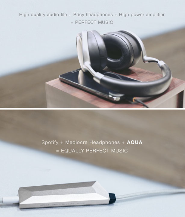 AQUA: World's Lightest Headphone Amplifier