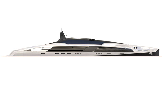 Aqueous 120-meter Superyacht Concept Features Stainless Steel Accents to Add Elegant Touch