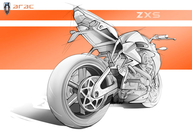 ARAC ZXS Motorcycle Concept by Marko Petrovic