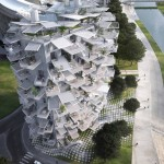 Arbre Blanc : White Tree Tower Inspired by Montpellier's Tradition of Outdoor Living