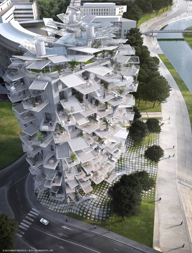 Arbre Blanc - White Tree Tower by Sou Fujimoto Architects, Nicolas Laisné Associates, and Manal Rachdi OXO Architects