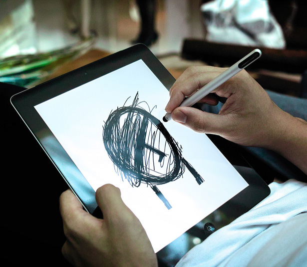 architect stylus writes on touchscreens
