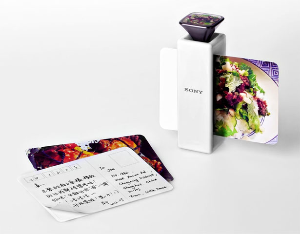 Aroma Printer Prints Out A Postcard With Image and Smell On It