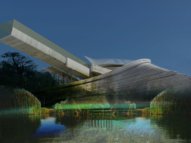 Artificial Wetland Flood Prevention Center by Margot Krasojević