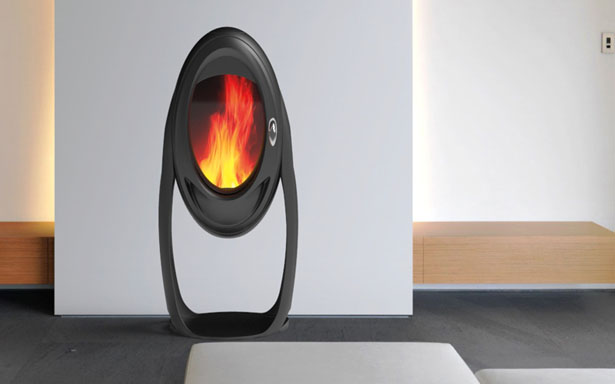 Asteroide Wood Stove for PHILIPPE by Jerome Olivet