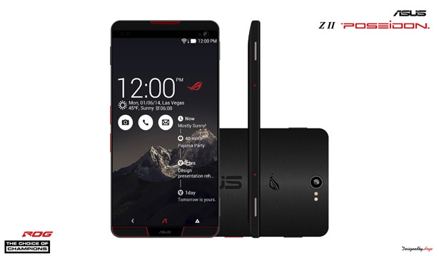 Asus Z2 Poseidon Is A Cell Phone Design Proposal for Extreme Gamers by Mladen Milic