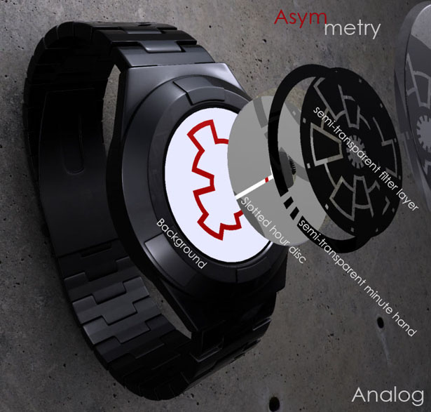 Asymmetry Analog Watch by Cory Farris