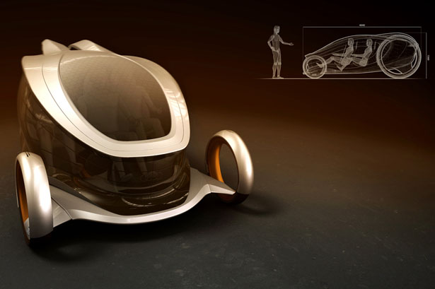 Audi 2Lip Futuristic Vehicle for 2050 by Davide Varenna