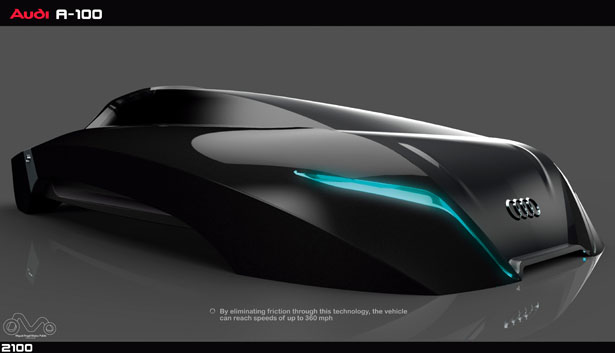 futuristic audi a100 car concept proposal for the year of
