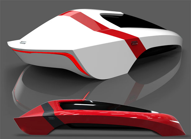 Futuristic AUDI A-100 Car Concept Proposal for The Year of 2100 by Miguel Angel Mojica Pulido