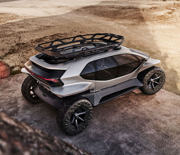 Futuristic Audi AI:TRAIL Concept Car for Outdoor Adventures