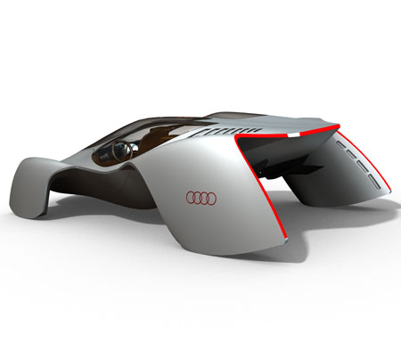Auto Racing Canopies on Audi Avatar 3 Seater Electric Supercar For 2032   Tuvie