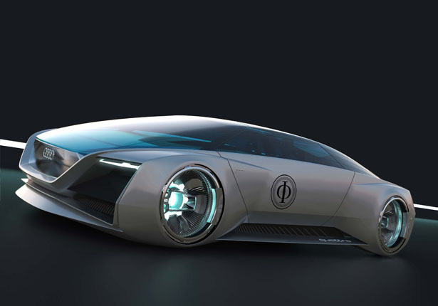 Futuristic Audi Fleet Shuttle Quattro for Ender's Game Movie