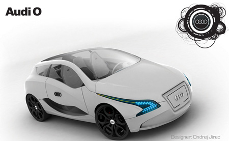 Audi O Green Car Concept | Modern Industrial Design and Future ...