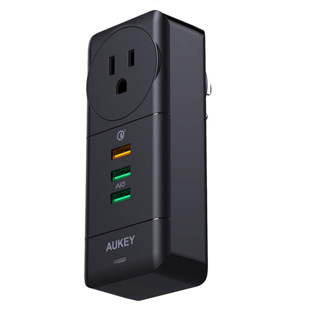 AUKEY USB Wall Charger with Rotate Plug