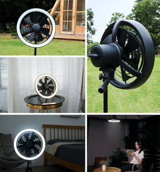 AURA Portable Multifunction Fan with Ambient Light Adapts Well in Multiple Scenarios