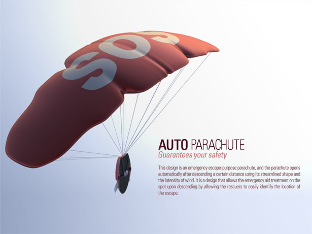 auto parachute fire rescue solution