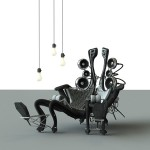 Autonomous Living Unit : Futuristic Chair by Eduardo McIntosh
