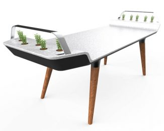 AVIA Dining Table With Small Hydroponic Gardens