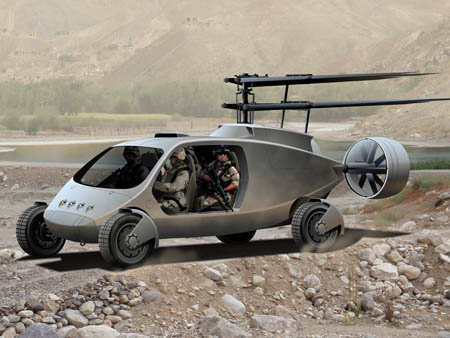 Futuristic 4x4 Fly-Drive Vehicle by AVX Aircraft Company