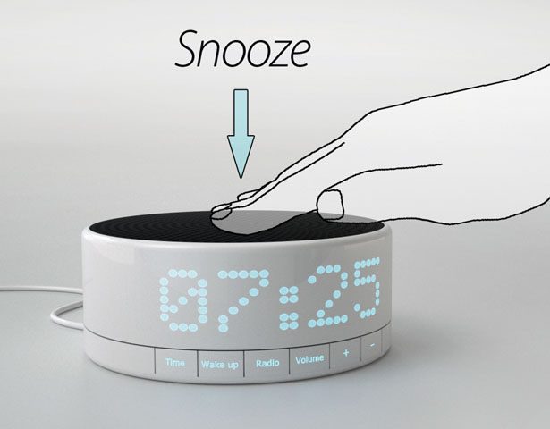 awake digital alarm clock by simon michell - Bedroom Clock