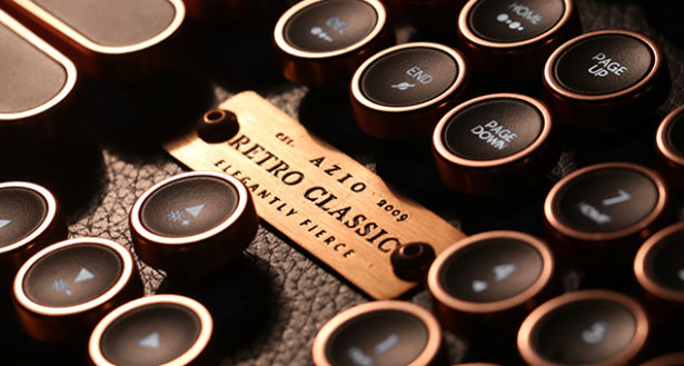 Azio Industry Luxury Vintage Keyboard