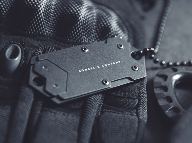B-2 Dog Tag with Discreet Small Utility Blade