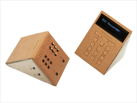 b & d messenger for users with visual and hearing impairment