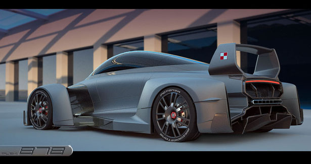 B7 Electric Super Race Car by Filip Tejszerski