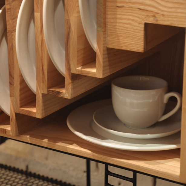 Baan Dinner Set Cupboard by Paitoon Keatkeereerut and Chawin Hanjing
