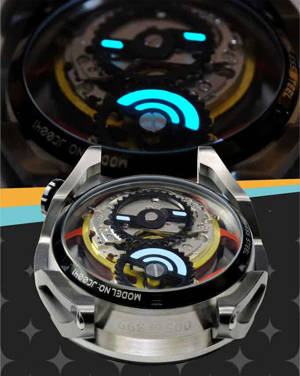 Cool BackFire Automatic Watch Integrates Automobile's Transmission System In Its Mechanism