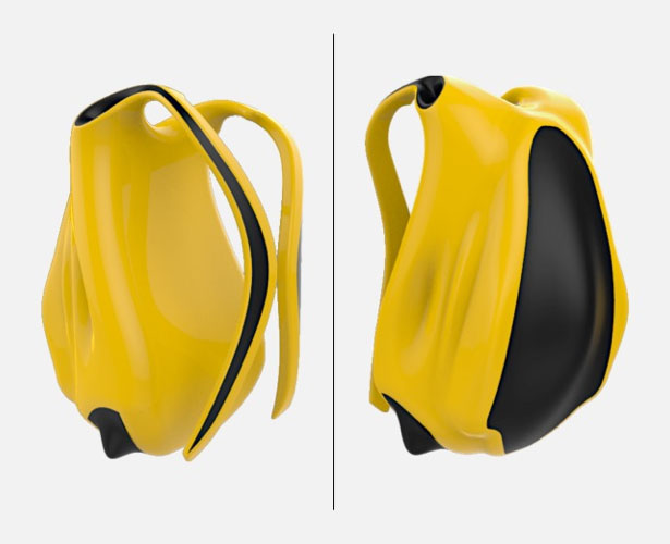 Interchangeable Concept Backpack by Karan Singh Gandhi