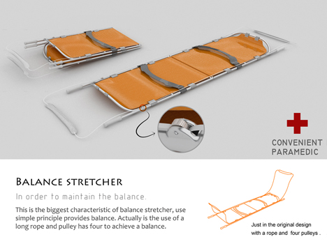 Balance Stretcher Prevents Further Injury To The Patient