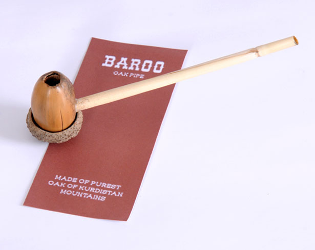 Baroo Natural Smoking Pipe by Milad Mohajeri