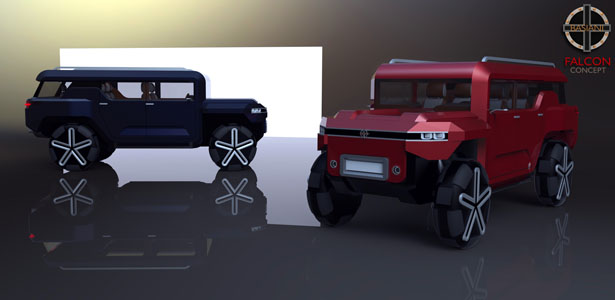 Basiani Falcon Off-Road Concept Car by Giorgi Tedoradze