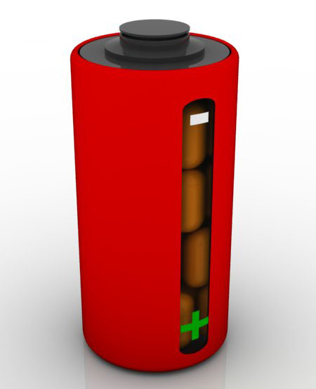 Battery Shaped Battericine Pill Container Can Tell You When You Have To Refill It
