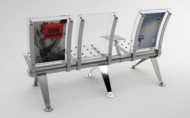 Beetling Airport Seat Design Features Dual Transparent Layers Body