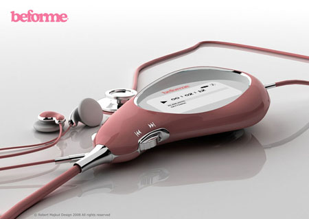 beforme stethoscope and mp3 player
