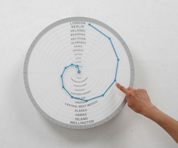 Bent Hands Clock by Gihawoo Design