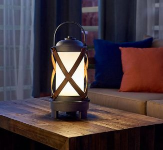 Kichler Berryhill Portable Bluetooth LED Table Lamp with Rustic Style and Built-In Speaker