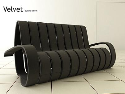 velvet ribbon sofa